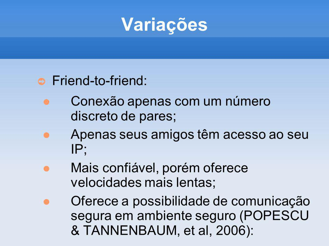 Variações Friend-to-friend:
