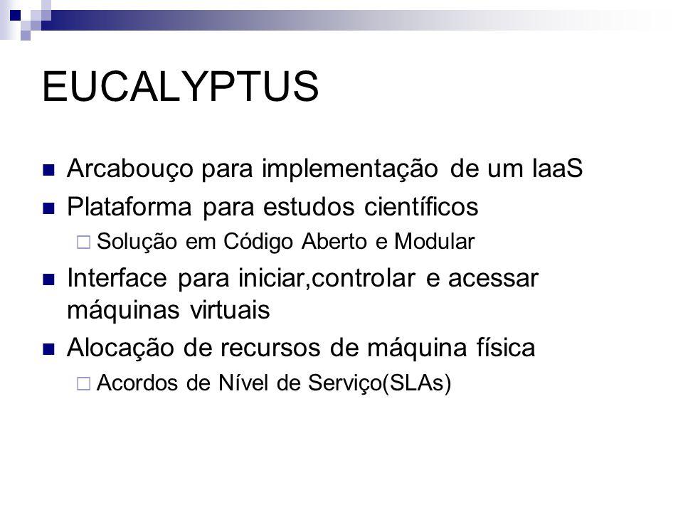 EUCALYPTUS Arcabouço para implementação de um IaaS