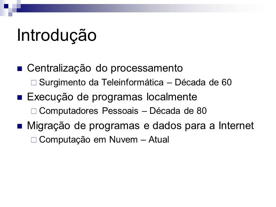 Introdução Centralização do processamento