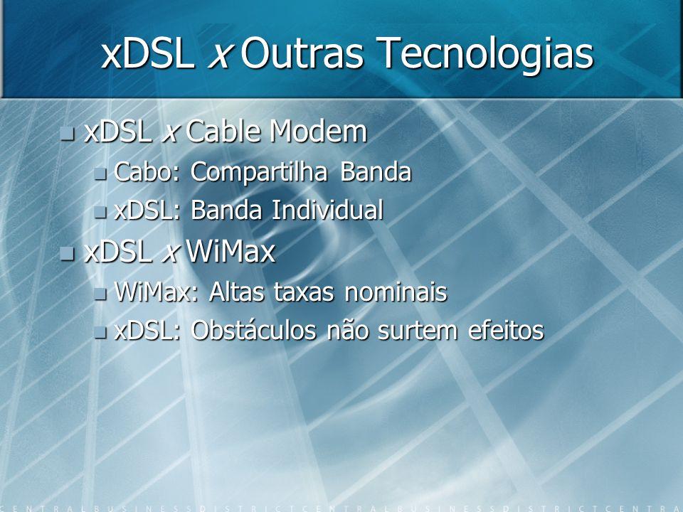 xDSL x Outras Tecnologias
