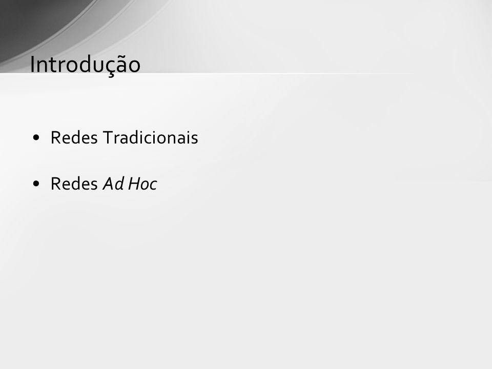 Introdução Redes Tradicionais Redes Ad Hoc