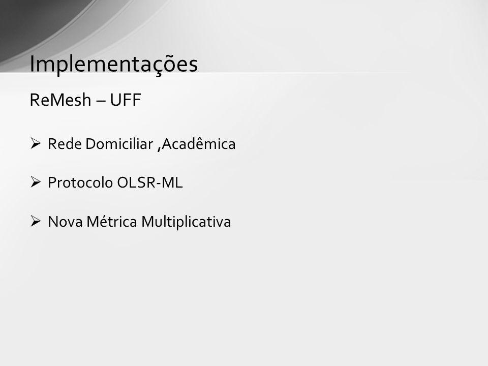 Implementações ReMesh – UFF Rede Domiciliar ,Acadêmica