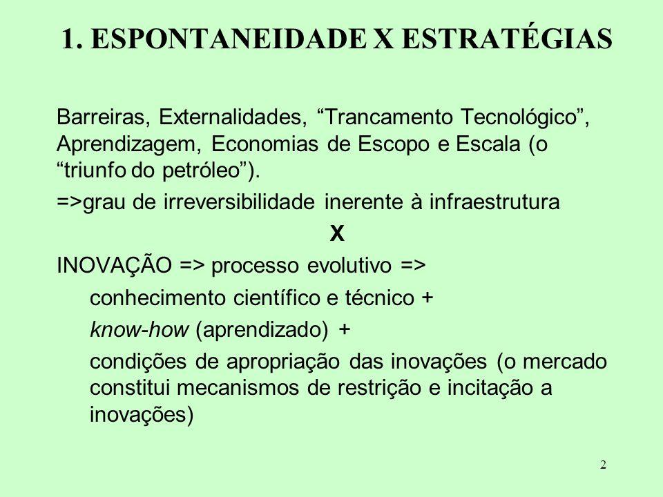 1. ESPONTANEIDADE X ESTRATÉGIAS