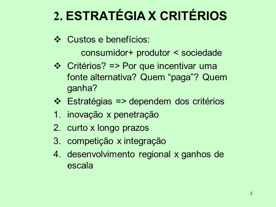 2. ESTRATÉGIA X CRITÉRIOS