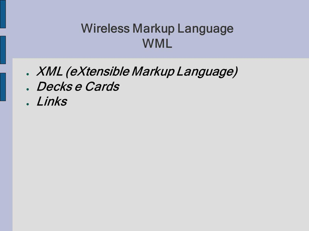 Wireless Markup Language WML
