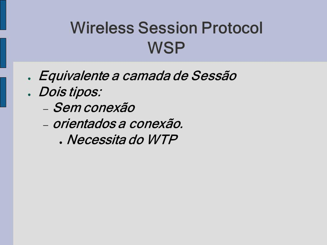 Wireless Session Protocol WSP