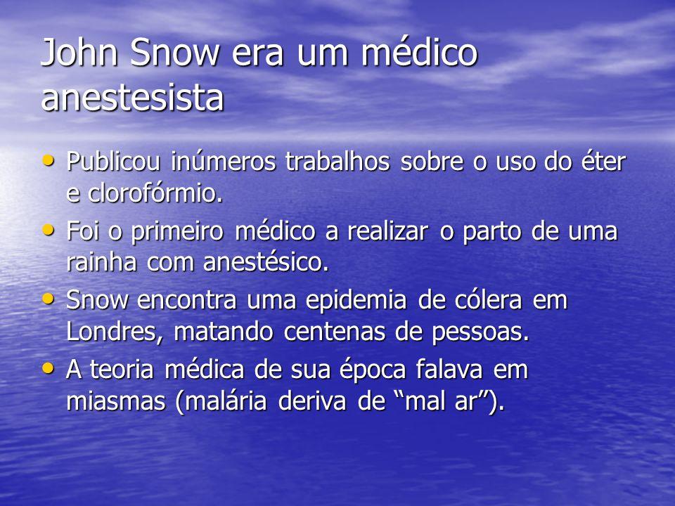 John Snow era um médico anestesista