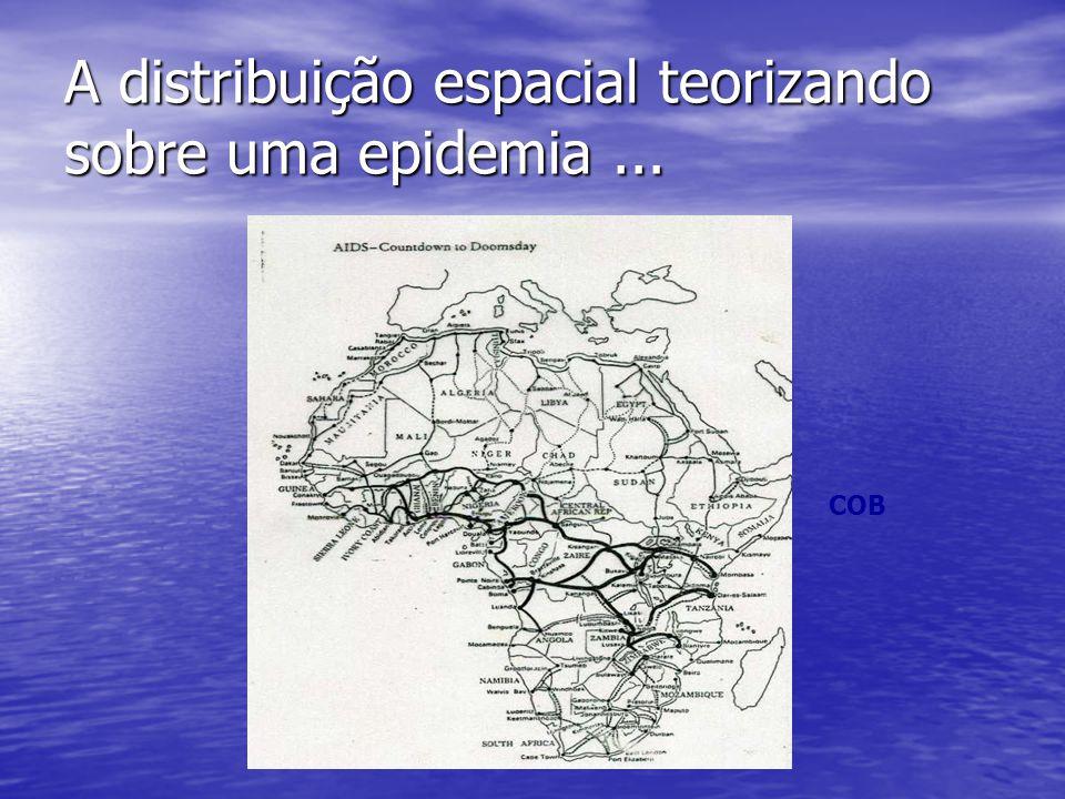 A distribuição espacial teorizando sobre uma epidemia ...