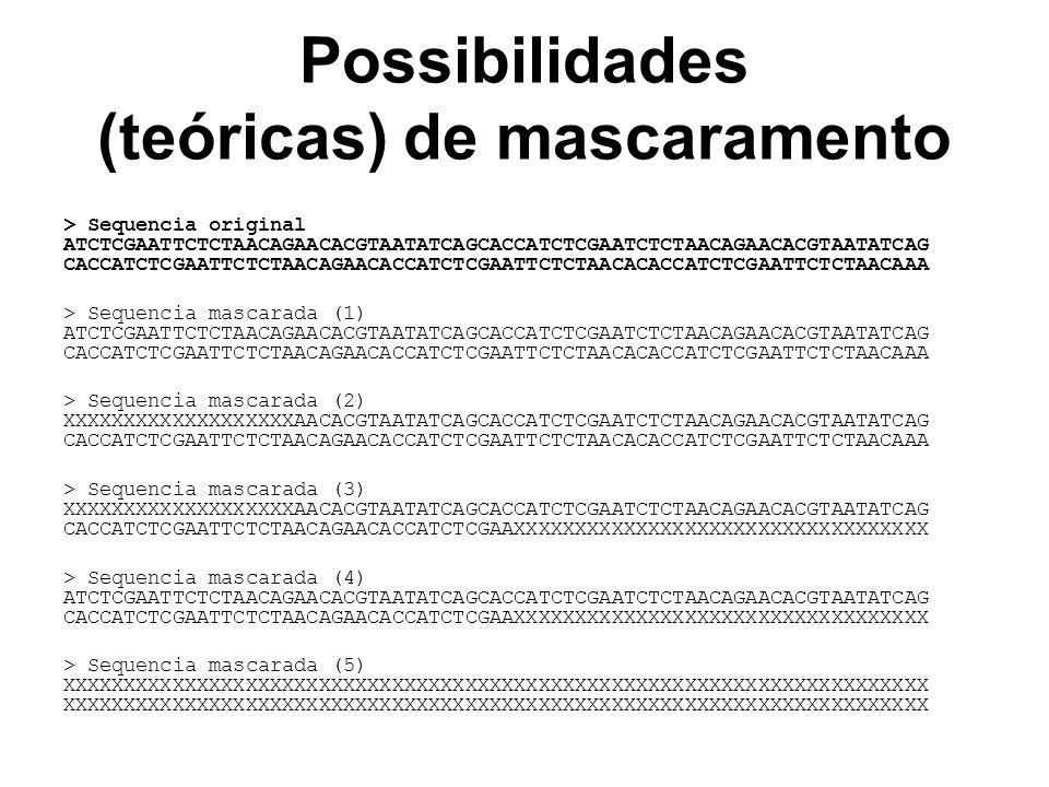Possibilidades (teóricas) de mascaramento