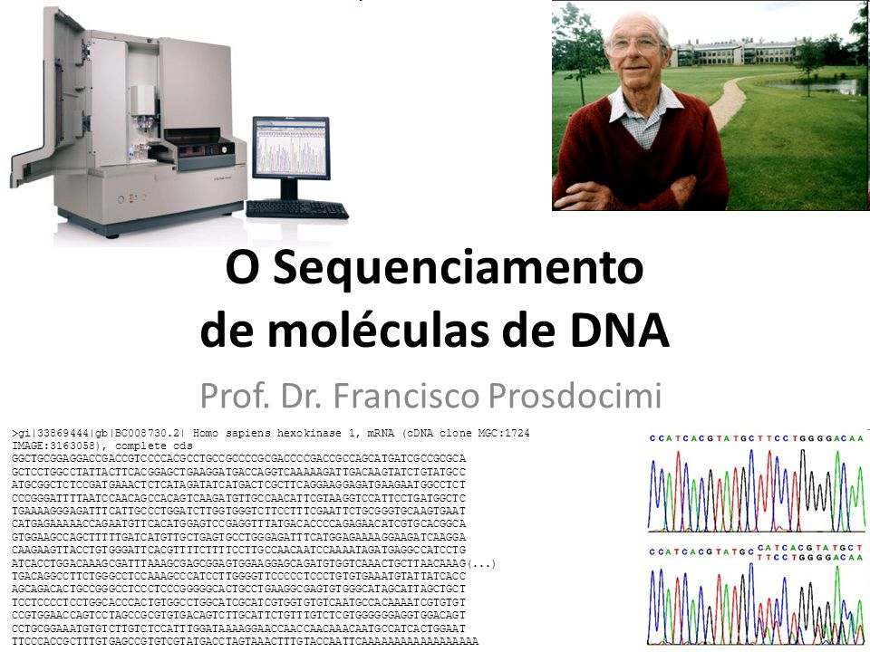 O Sequenciamento de moléculas de DNA