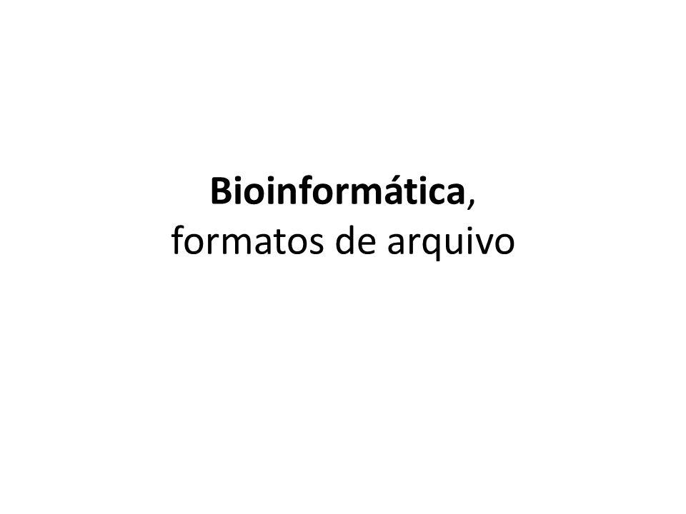 Bioinformática, formatos de arquivo