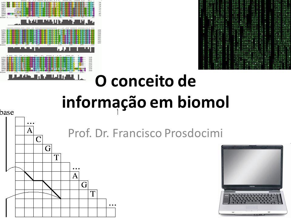 O conceito de informação em biomol