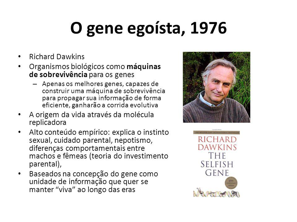 O gene egoísta, 1976 Richard Dawkins