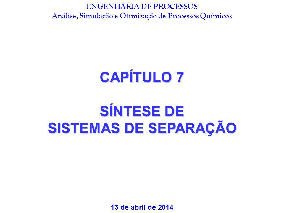 CAPÍTULO 7 SÍNTESE DE SISTEMAS DE SEPARAÇÃO