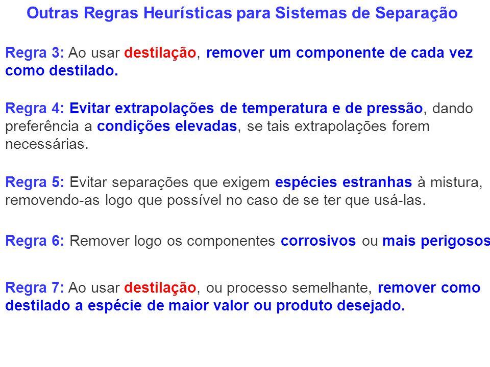 Outras Regras Heurísticas para Sistemas de Separação