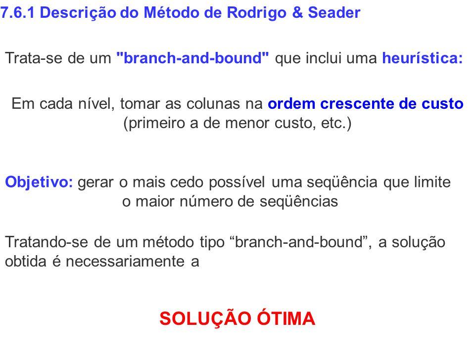 SOLUÇÃO ÓTIMA 7.6.1 Descrição do Método de Rodrigo & Seader