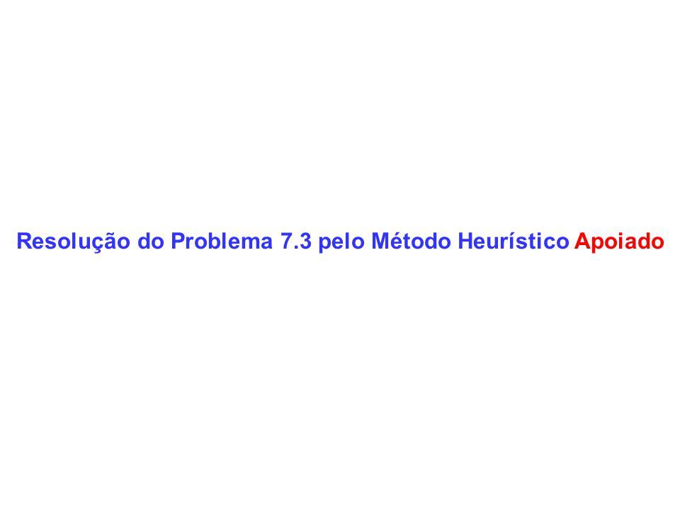 Resolução do Problema 7.3 pelo Método Heurístico Apoiado