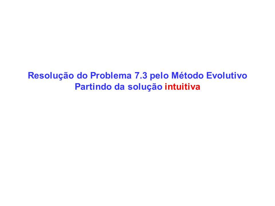 Resolução do Problema 7.3 pelo Método Evolutivo