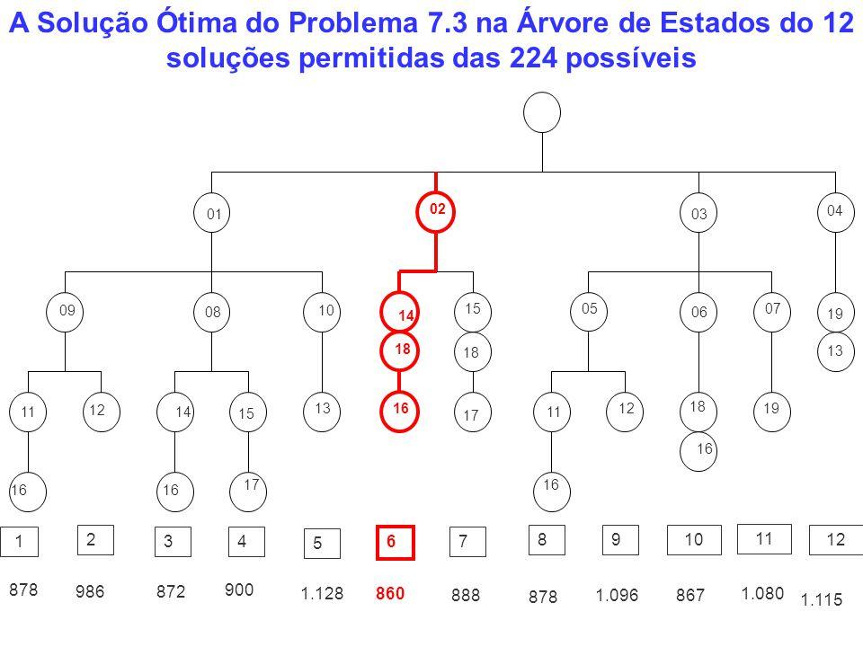 A Solução Ótima do Problema 7