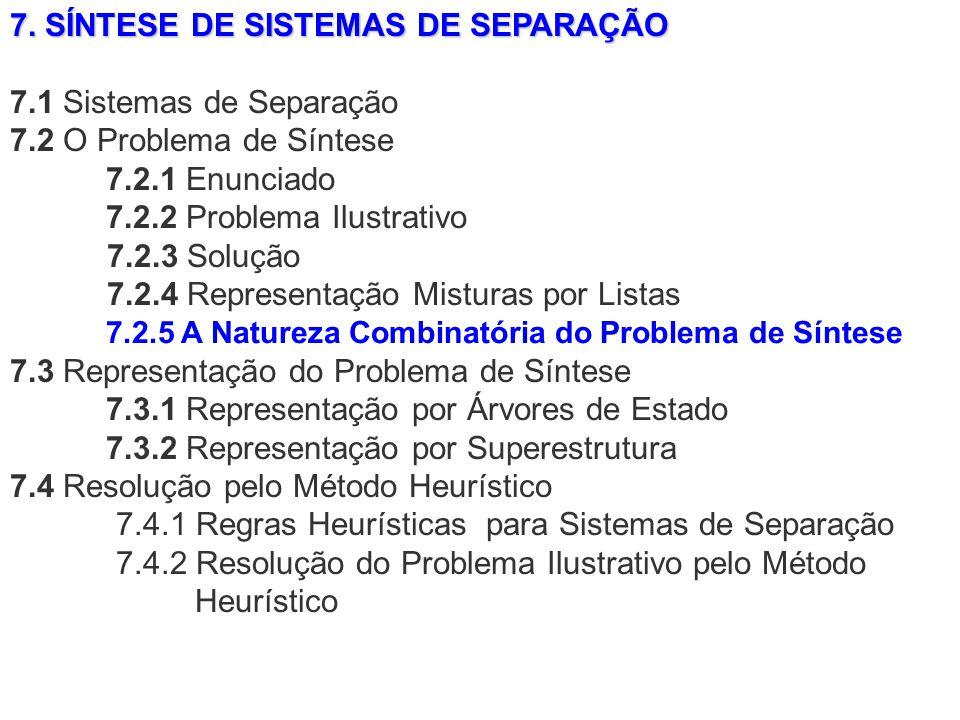 7. SÍNTESE DE SISTEMAS DE SEPARAÇÃO 7.1 Sistemas de Separação