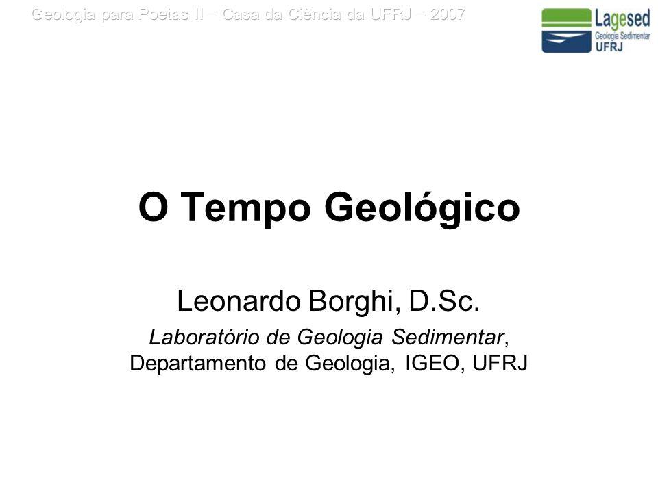 O Tempo Geológico Leonardo Borghi, D.Sc.