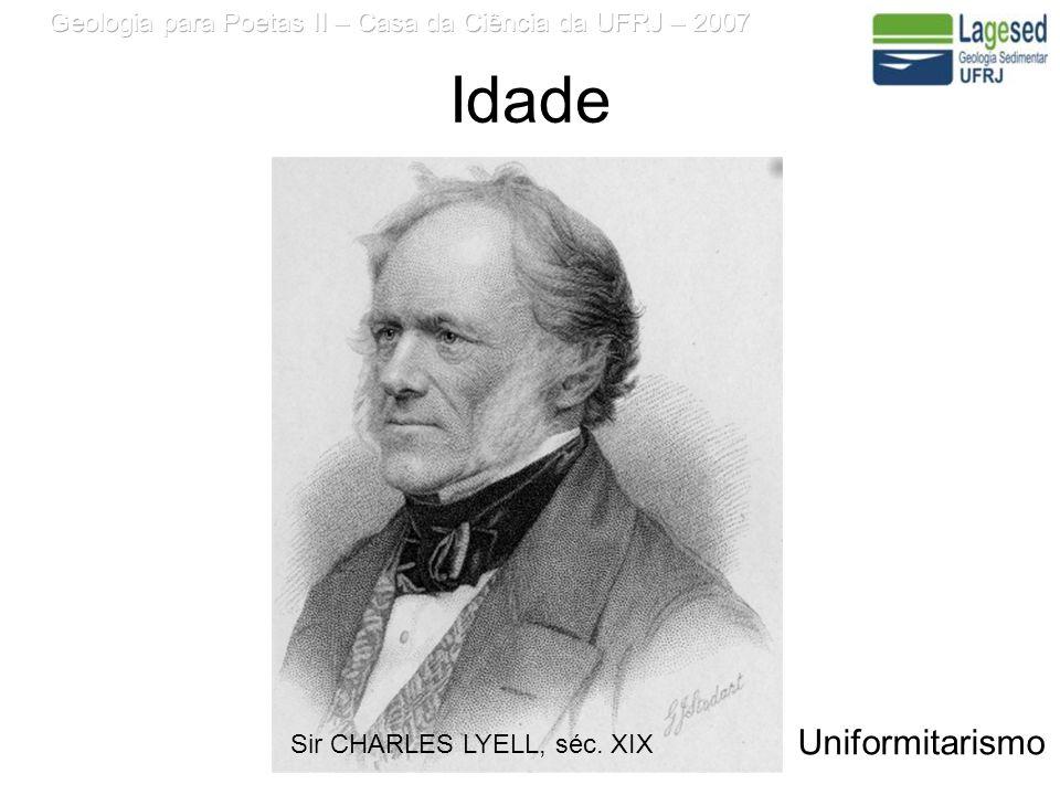 Idade Uniformitarismo Sir CHARLES LYELL, séc. XIX