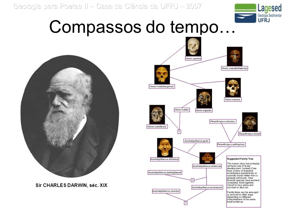 Compassos do tempo… Sir CHARLES DARWIN, séc. XIX