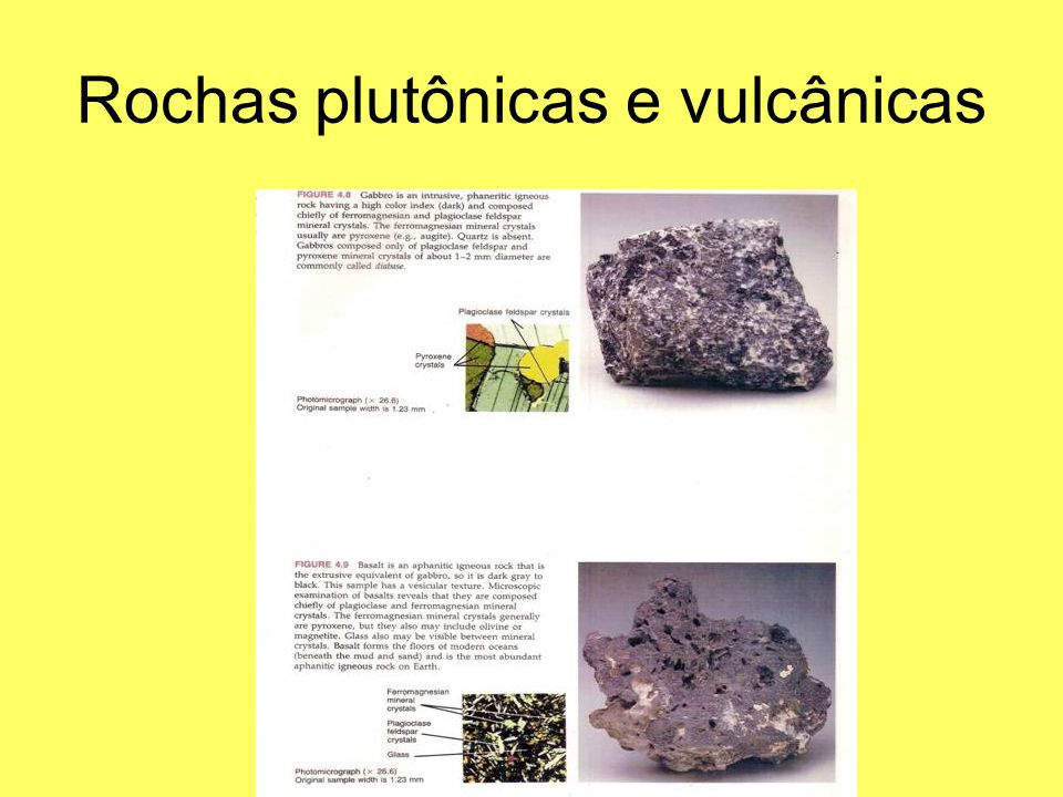 Rochas plutônicas e vulcânicas