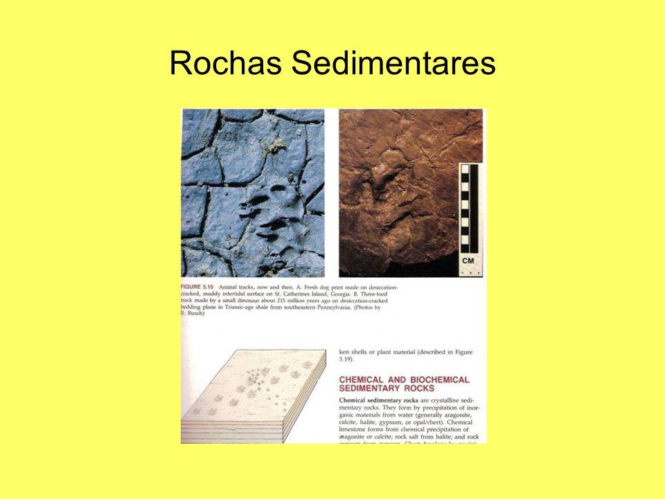 Rochas Sedimentares Observar laminação e pistas.