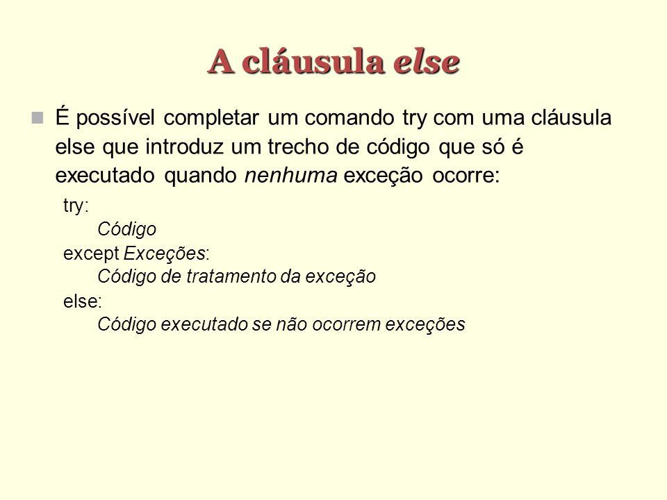 A cláusula else