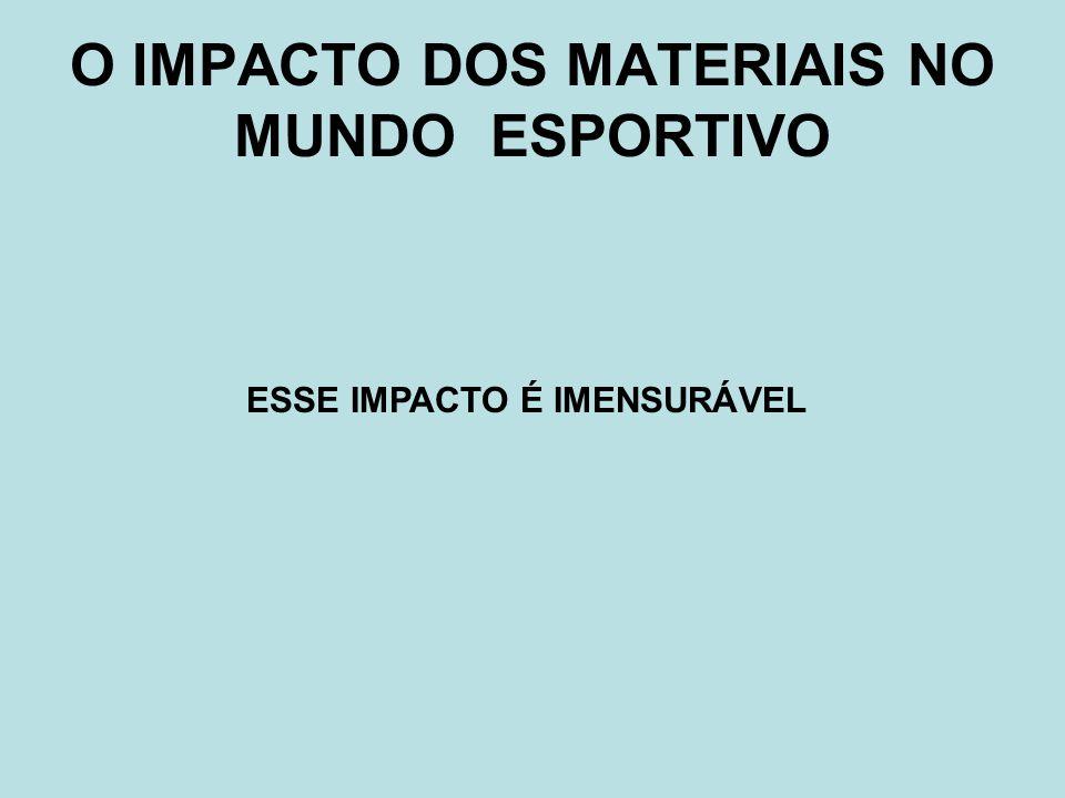 O IMPACTO DOS MATERIAIS NO MUNDO ESPORTIVO