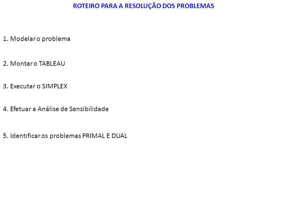 ROTEIRO PARA A RESOLUÇÃO DOS PROBLEMAS