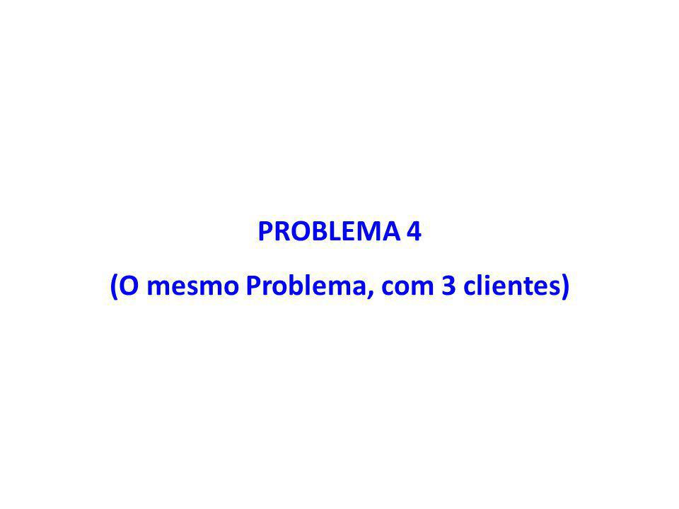 (O mesmo Problema, com 3 clientes)
