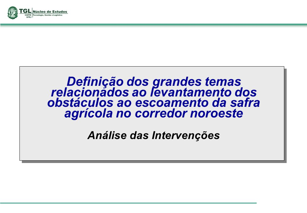 Análise das Intervenções