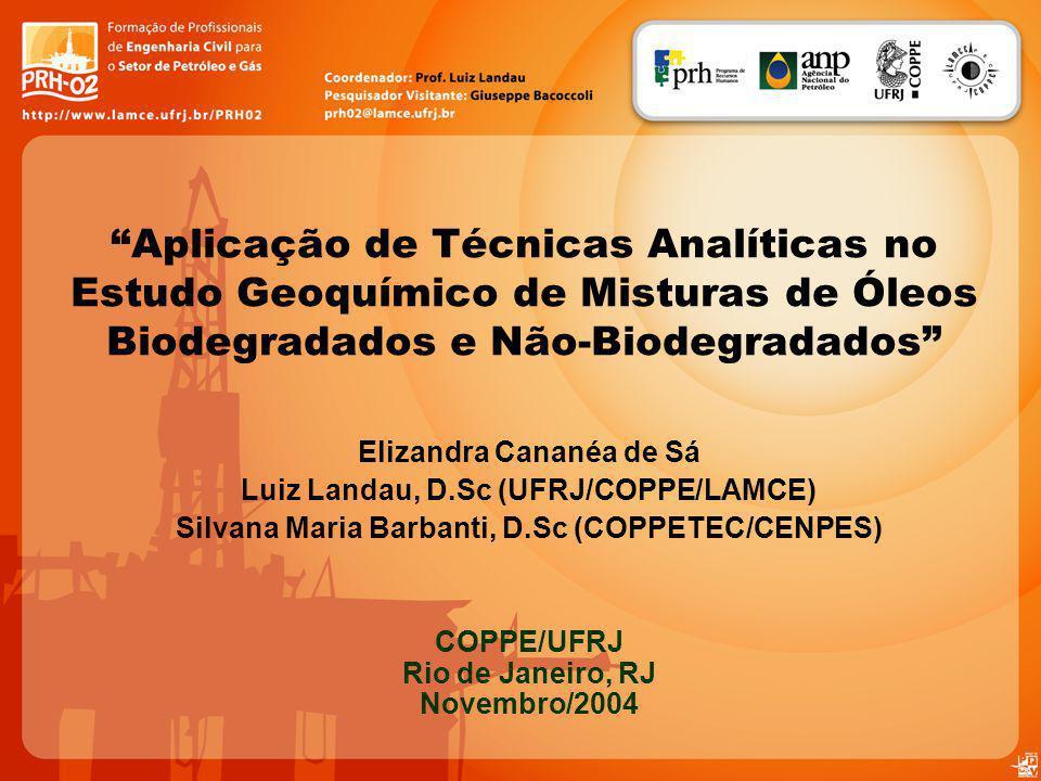 Aplicação de Técnicas Analíticas no Estudo Geoquímico de Misturas de Óleos Biodegradados e Não-Biodegradados