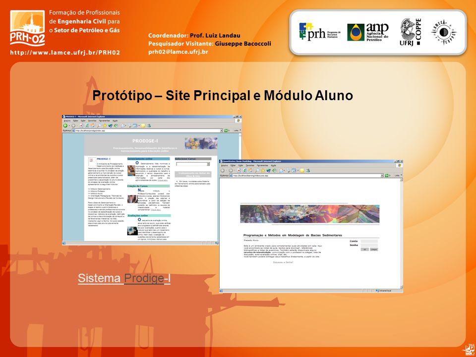 Protótipo – Site Principal e Módulo Aluno