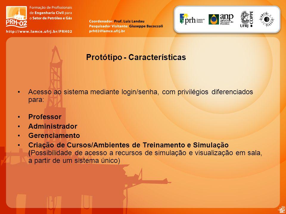 Protótipo - Características