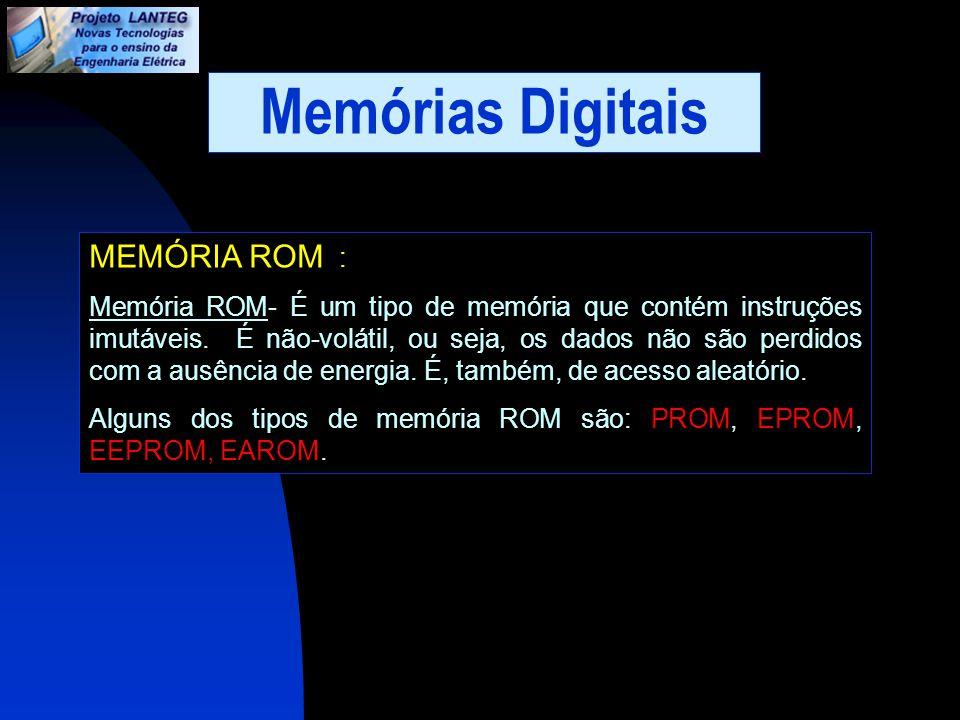 Memórias Digitais MEMÓRIA ROM :