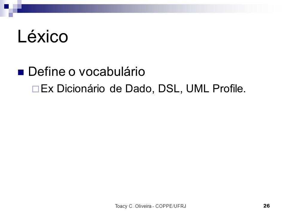 Toacy C. Oliveira - COPPE/UFRJ