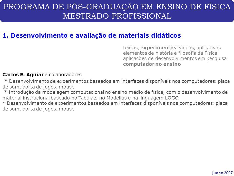 PROGRAMA DE PÓS-GRADUAÇÃO EM ENSINO DE FÍSICA MESTRADO PROFISSIONAL