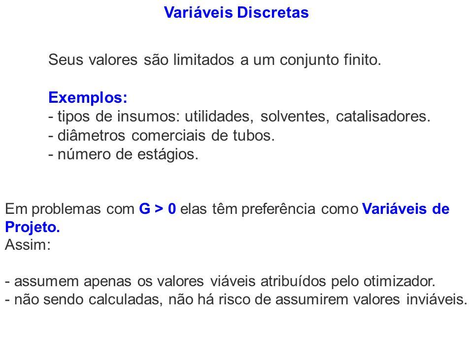 Seus valores são limitados a um conjunto finito. Exemplos: