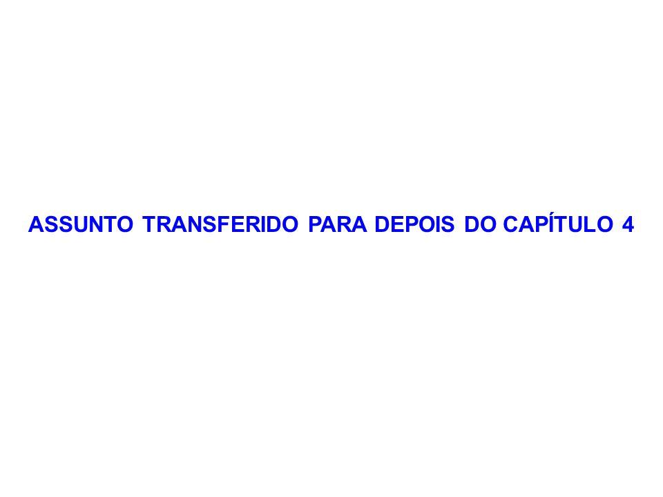 ASSUNTO TRANSFERIDO PARA DEPOIS DO CAPÍTULO 4