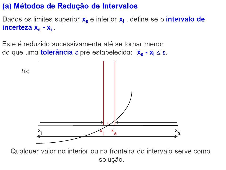 (a) Métodos de Redução de Intervalos