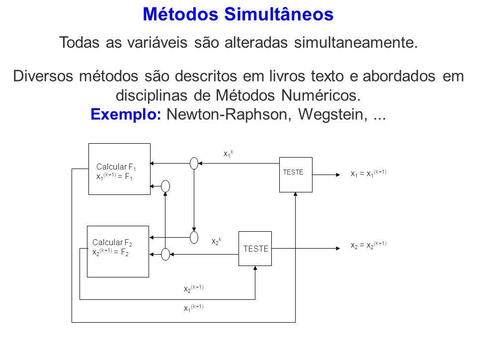 Métodos Simultâneos Todas as variáveis são alteradas simultaneamente.