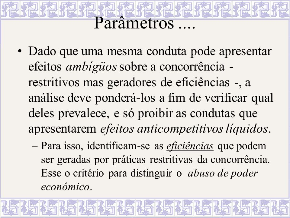 Parâmetros ....