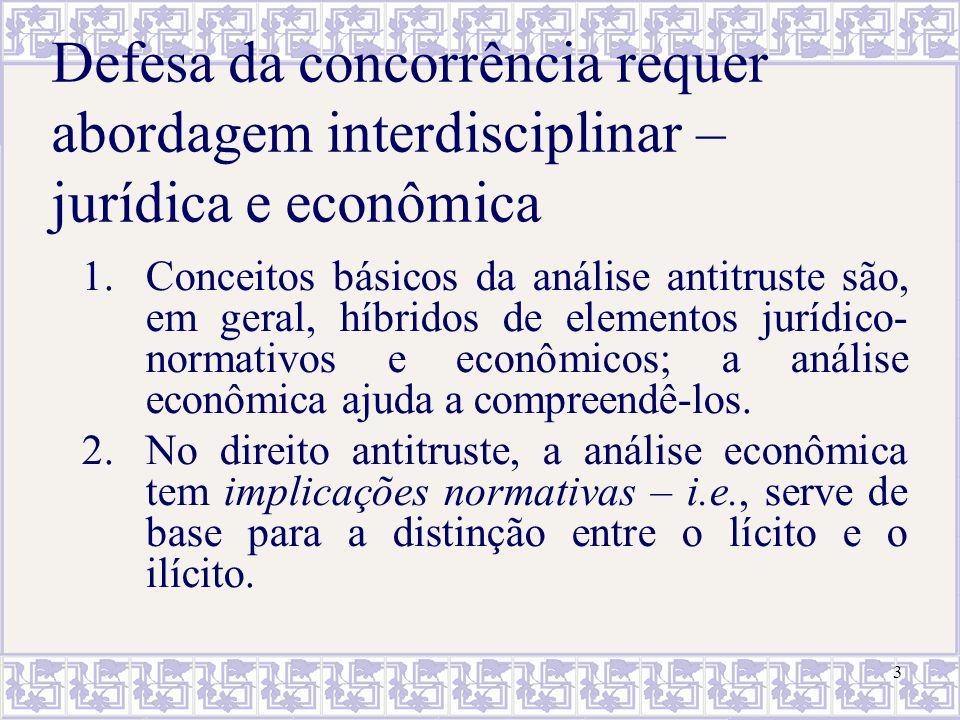 Defesa da concorrência requer abordagem interdisciplinar – jurídica e econômica
