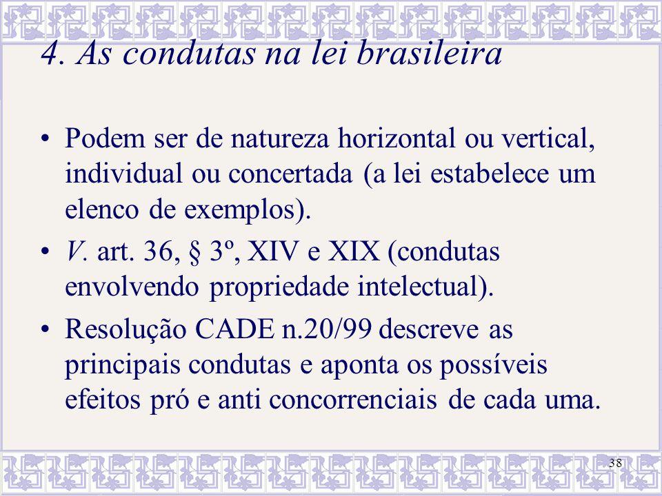 4. As condutas na lei brasileira