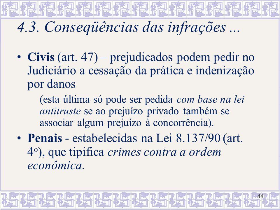 4.3. Conseqüências das infrações ...