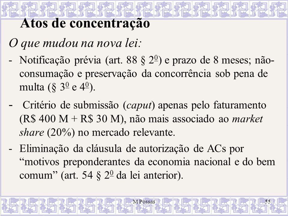 Atos de concentração O que mudou na nova lei: