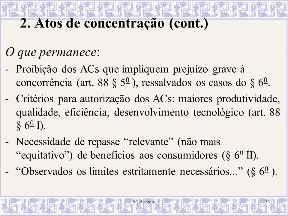 2. Atos de concentração (cont.)